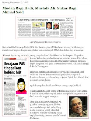 Kesian dengan Kerajaan Barisan Nasional (BN) Terengganu yang kehabisan  modal untuk menyerang PAS. 1ffea6897d