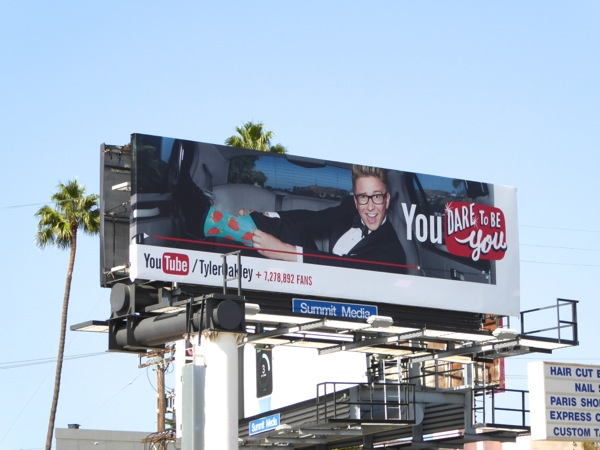 You Tube Tyler Oakley You dare to be you billboard