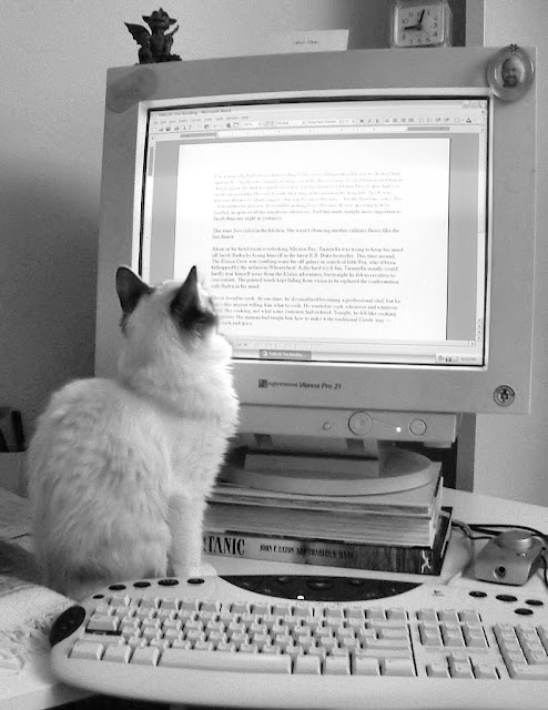 Literary cat by SuziJane from flickr (CC-SA)