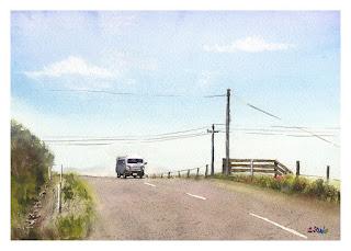 バックランドロード / NZ Watercolor