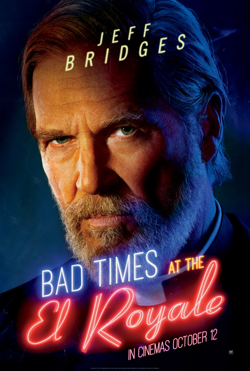 BAD TIMES AT THE EL ROYALE poster jeff bridges