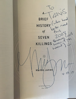 A Brief History of Seven Killings by Marlon James Autograph