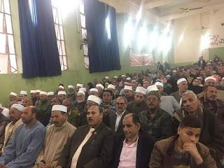 المشيخة العامة لطرق الصوفية ووزارة الاوقاف والسادة الاشراف يعقد مؤتمر بشباب المسلمين لتأييد الدستور بالفيوم