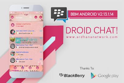 BBM MOD Droid Chat Pink Dominan v3.1.0.13 APK Terbaru Transparan Theme