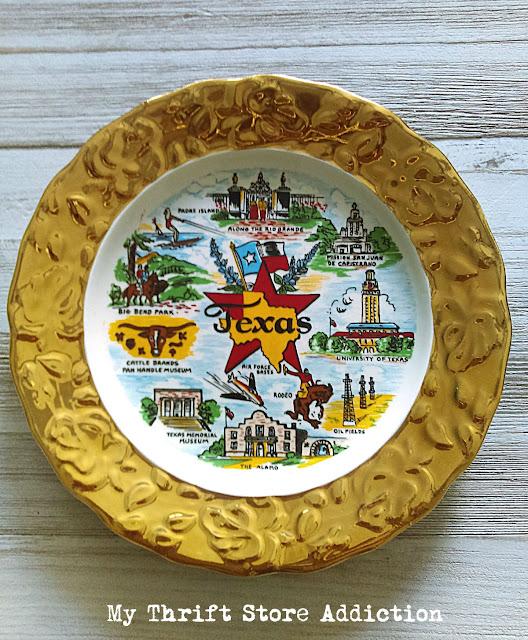 vintage Texas souvenir plate