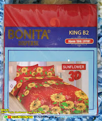 Sprei Bonita Sunflower King Ukuran 180