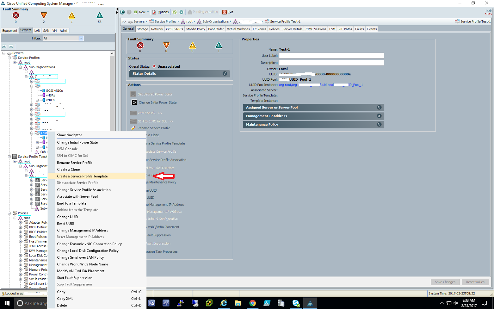 Convert an existing Cisco UCS Service Profile Initial Template to an ...