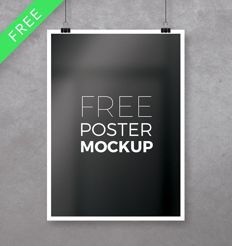 Free A4 Poster Mockup PSD
