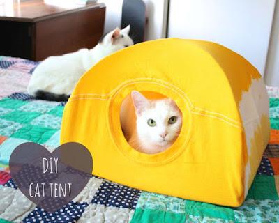 เต้นท์แมว งาน DIY เสื้อผ้าเก่าน่ารักๆ 1