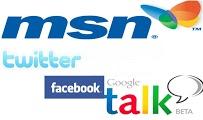 Facebook, MSN, Twitter e Gtalk juntos