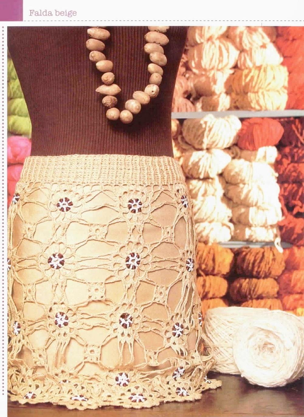 faldas ganchillo, faldas crochet, patrones crochet