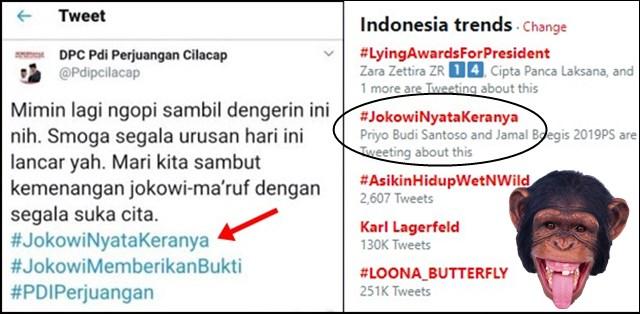 Tagar #JokowiNyataKeranya Trending Topic Akun PDIP Cilacap Akhirnya Lakukan ini