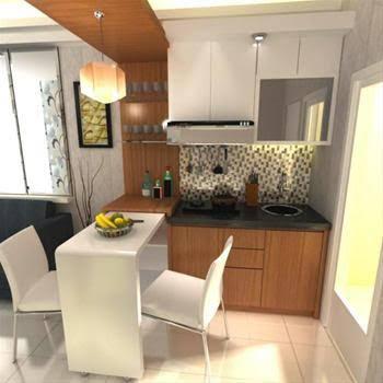 Desain Interior  Ruang Tamu Dan Kitchen Set Minimalis