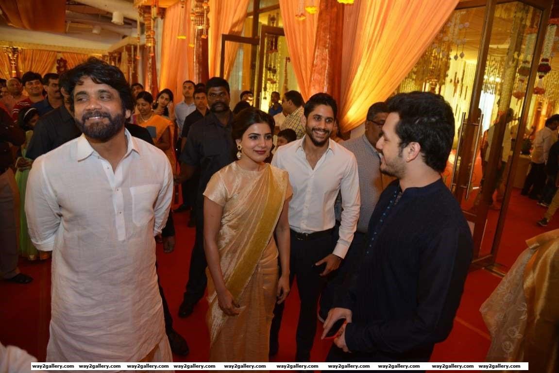Samantha Ruth Prabhu and Naga Chaitanya spotted together at Swathi and Pranavs wedding