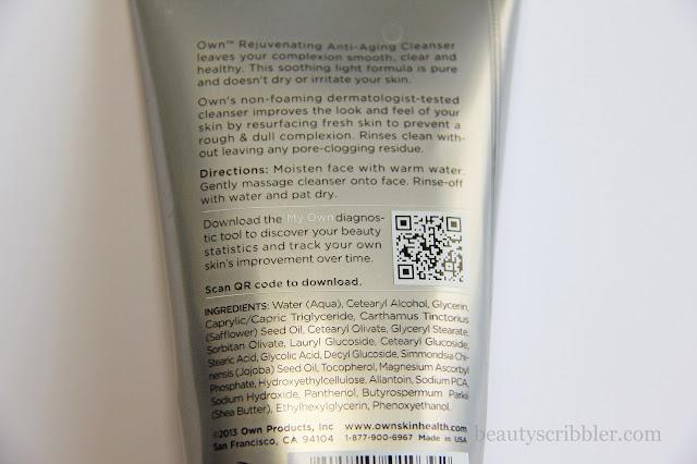 Own Rejuvenating Cleanser ingredients