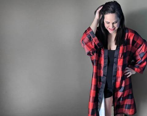 Shinesty Buffalo Plaid Kimono Review