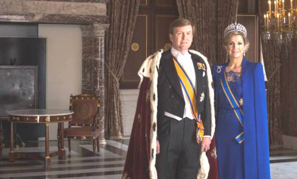 Dutch King and Queen attend the State Opening of Parliament