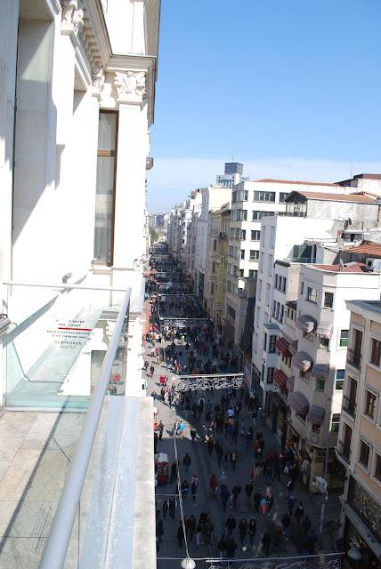Вид на Истикляль сверху, Стамбул, Турция.