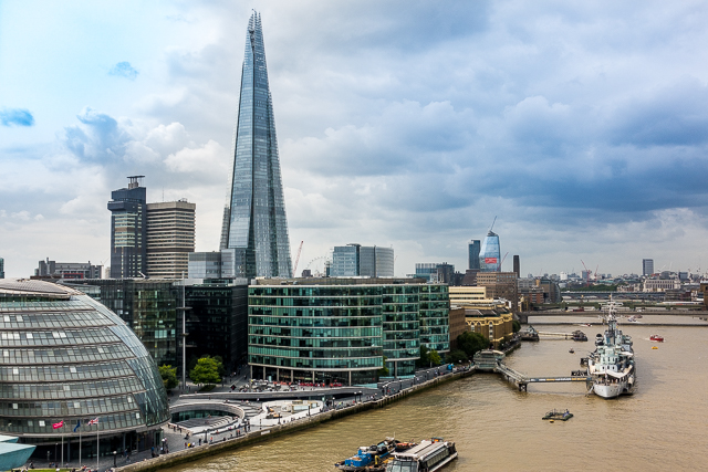 View of London from Tower Bridge - London, England