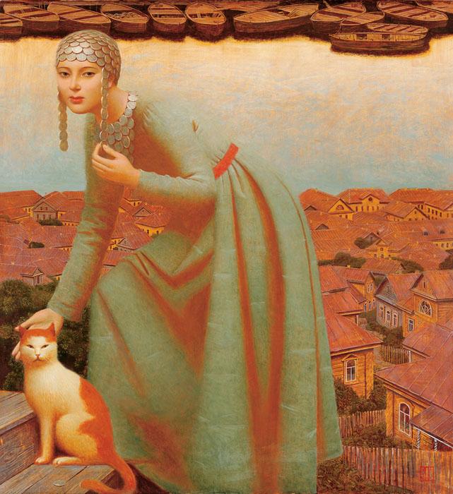 Haut ANDREJ REMNEV peintre RUSSE contemporain - un peintre de génie  NW87