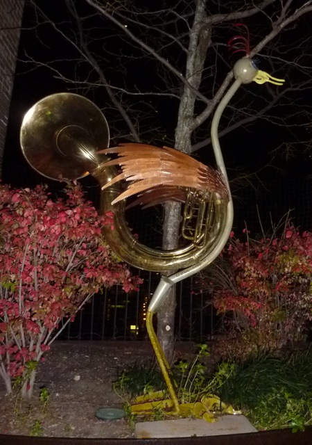 Tuba as Ostrich Sculpture