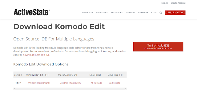 text editor komodo edit