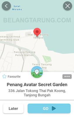 Waze Lokasi Taman Avatar Penang