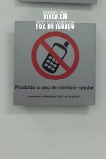 Você sabia que em Foz do Iguaçu é proibido usar celular dentro de agências bancárias