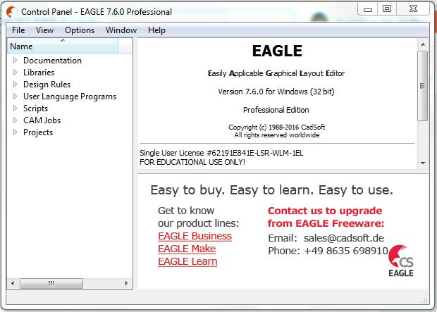 Draw Schematic diagram in Cadsoft Eagle - NERD SCHOOLS