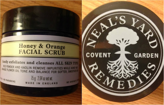 neal's yard remedies honey and orange facial scrub