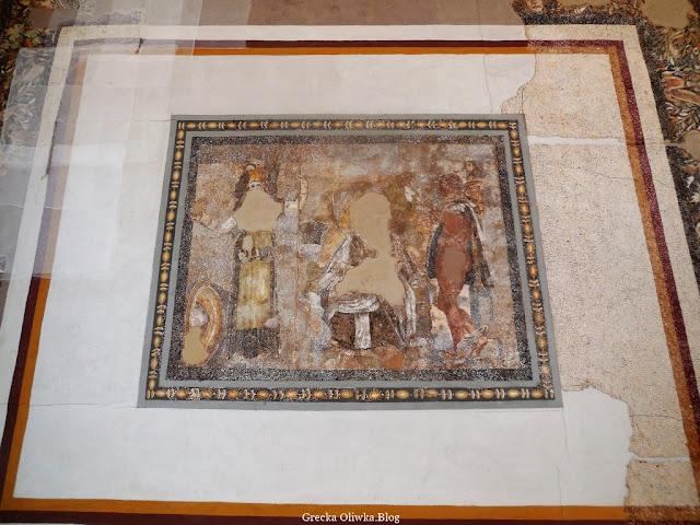 Srarożytna mozaika w Muzeum Delos Grecja
