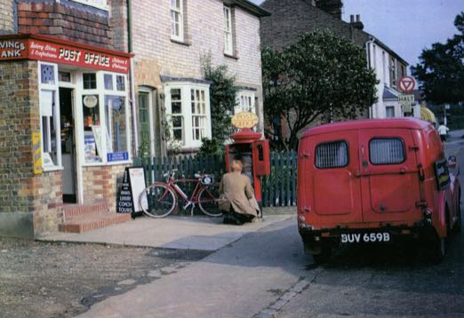 Photograph of Post office collection Dellsome Lane August 31, 1966. Image from Ron Kingdon part of the Images of North Mymms collection