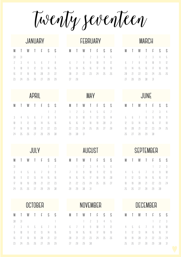 FREE PRINTABLE IRMA 2017 ANNUAL CALENDARS & PLANNER COVERS - eliza ...