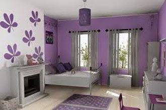 warna cat ruang tamu 2 warna dengan wallpaper dinding