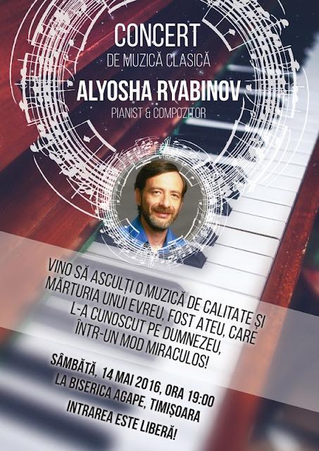 Concert Alyosha Ryabinov la Agape Timișoara - 14 mai 2016