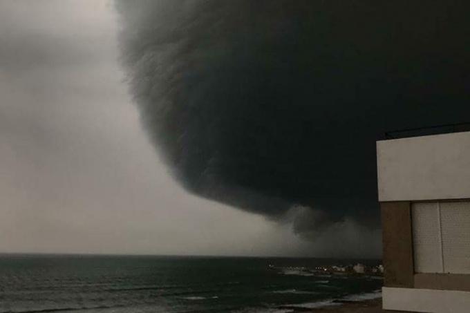 Así llegaba la tormenta a la Costa Atlántica
