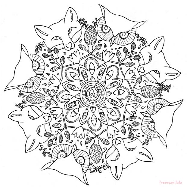 Mandalas für Kinder und Erwachsene zum Ausdrucken und Ausmalen ...