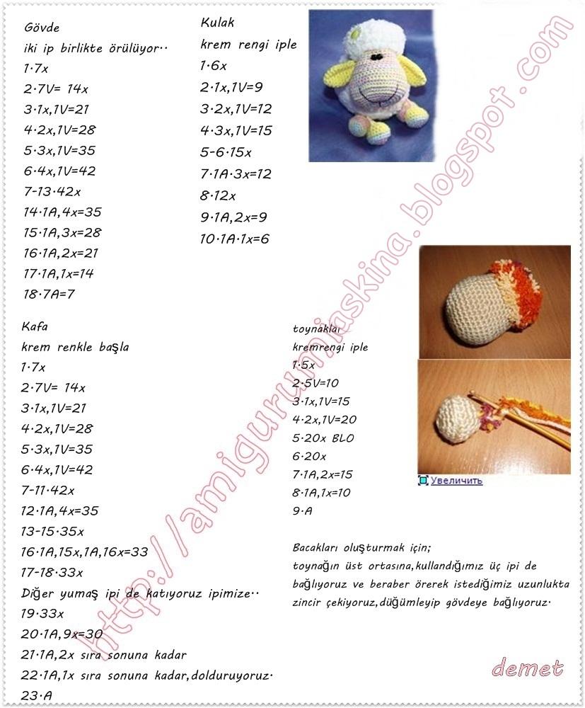 Amigurumi Yapımı Resimli Anlatım