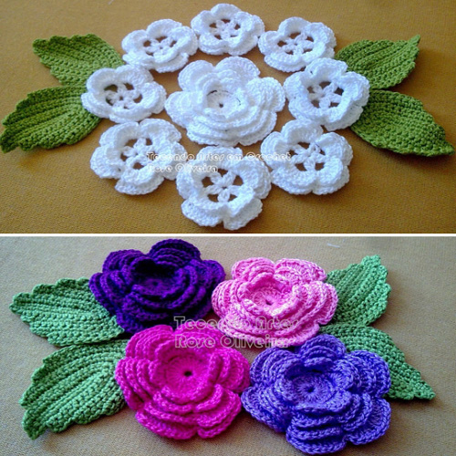 Crochet Flower Bouquet - Free Diagram