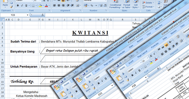 Contoh Format Kwitansi Nota Pesanan Faktur Berita Acara