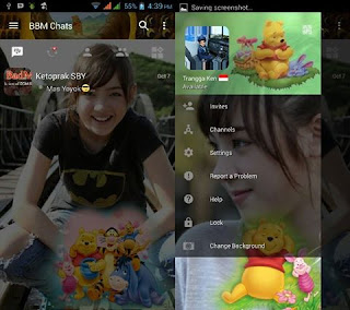 BBM Mod Change Background with Winnie The Pooh v3.0.1.25 Apk Terbaru