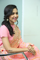 Actress Ritu Varma Pos in Beautiful Pink Anarkali Dress at at Keshava Movie Interview .COM 0268.JPG