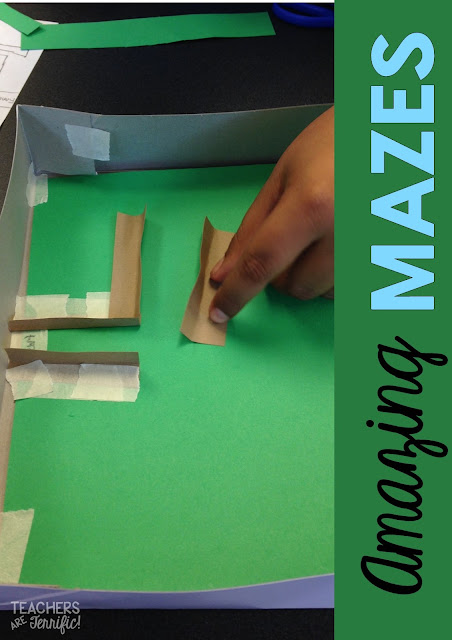 STEM Engineering Challenge: PLacing those maze walls carefully to make the best path for the marble that runs through!