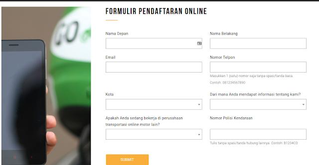 Formulir Gojek Online