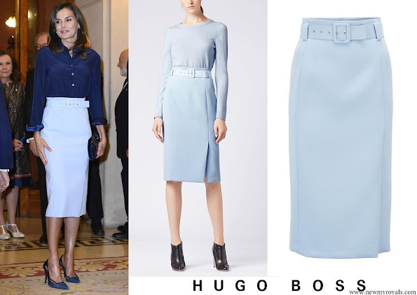 Queen Letizia wore HUGO BOSS High Waisted Pencil Skirt