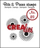 www.crealies.nl Bits & Pieces stempel/stamp no. 89 4x sun