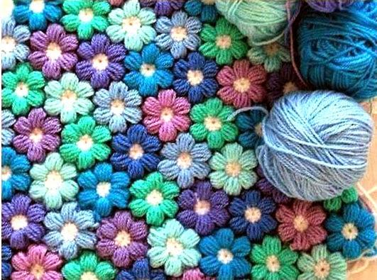 Tejidos artesanales en crochet como tejer en crochet una - Mantas de ganchillo faciles ...