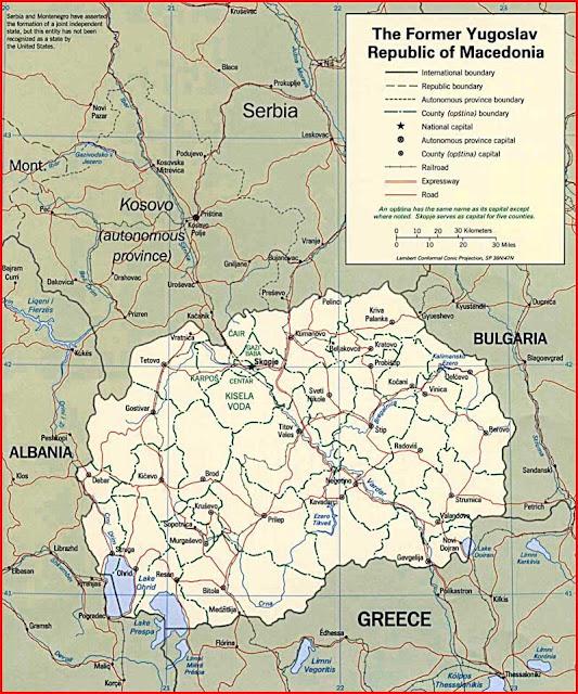 Gambar Peta politik Makedonia