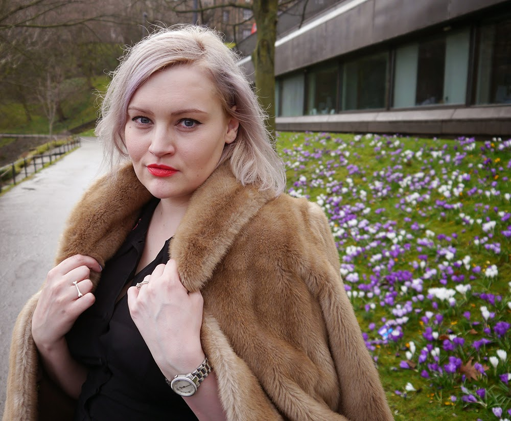 day one, Edinburgh Fashion Week, 2015, Wardrobe Conversations, model, catwalk, faux fur, the mound, This Is Edinburgh, #EdFashionWeek, Scottish blogger, street style