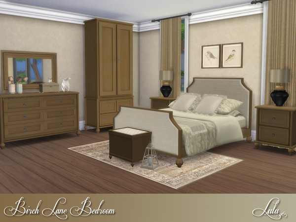 My sims 4 blog birch lane bedroom set by lulu265 for Lane bedroom furniture
